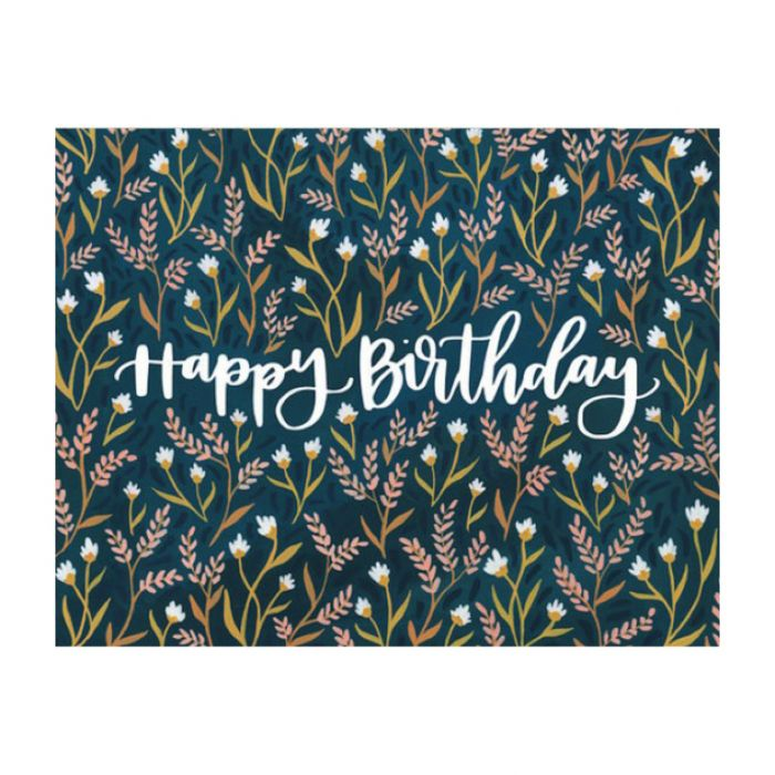 Almanac Gallery Birthday Field Floral Card  ] 9346109048668 - Flower Power