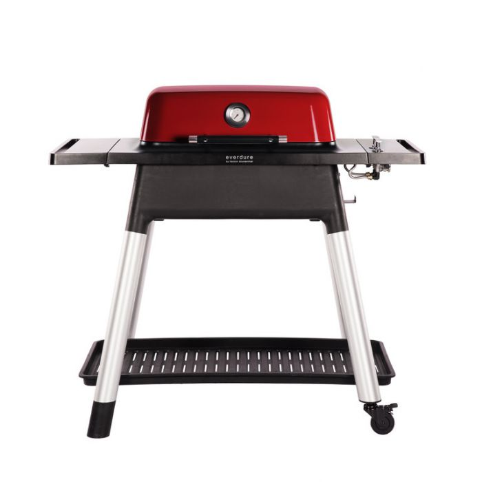 Everdure Force Gas BBQ + Stand Red  ] 9312646023833 - Flower Power