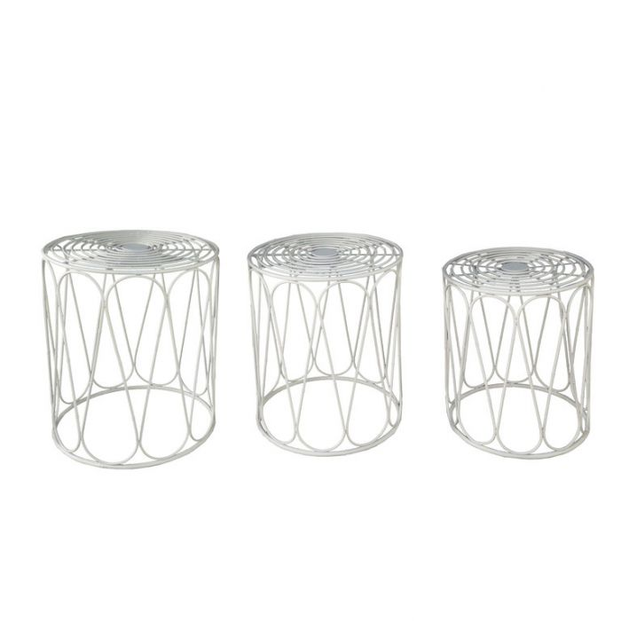 FP Collection Bahamas Side Table White  ] 182815P - Flower Power