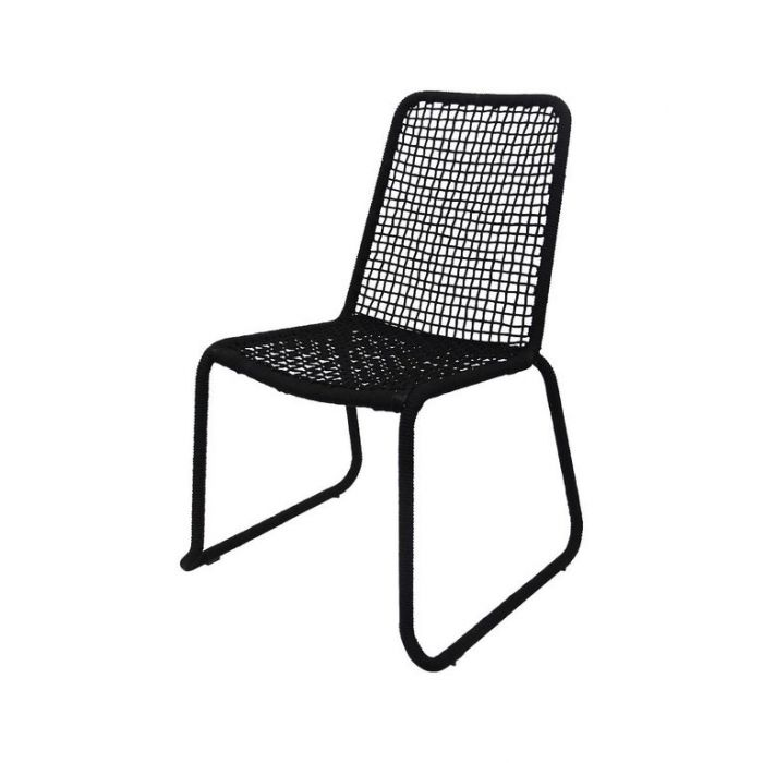 FP COLLECTION ARUBA OUTDOOR DINING CHAIR BLACK  ] 182172 - Flower Power