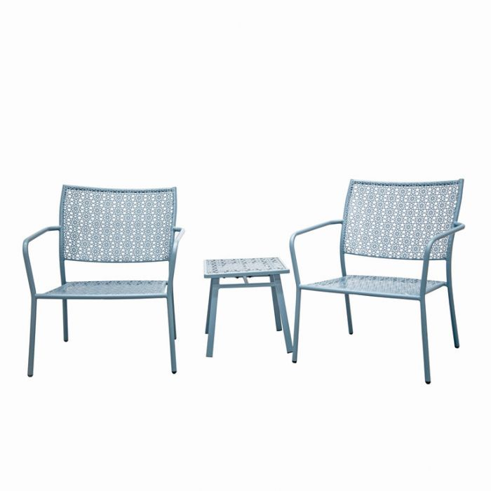 FP Collection Alfresco Outdoor 2 Seater Balcony Setting Grey  ] 184712 - Flower Power