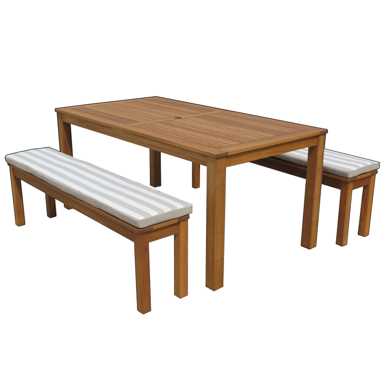 Fp Collection Bronte Outdoor Dining, Timber Bench Outdoor Furniture