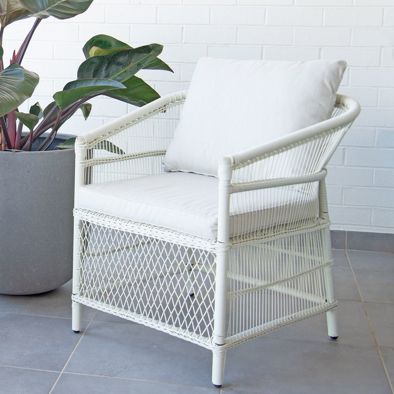 Fp Collection Malawi Outdoor Dining, White Patio Dining Chairs