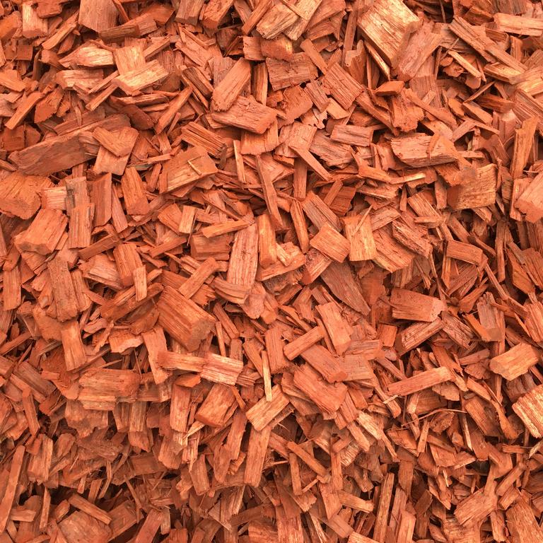 red woodchip