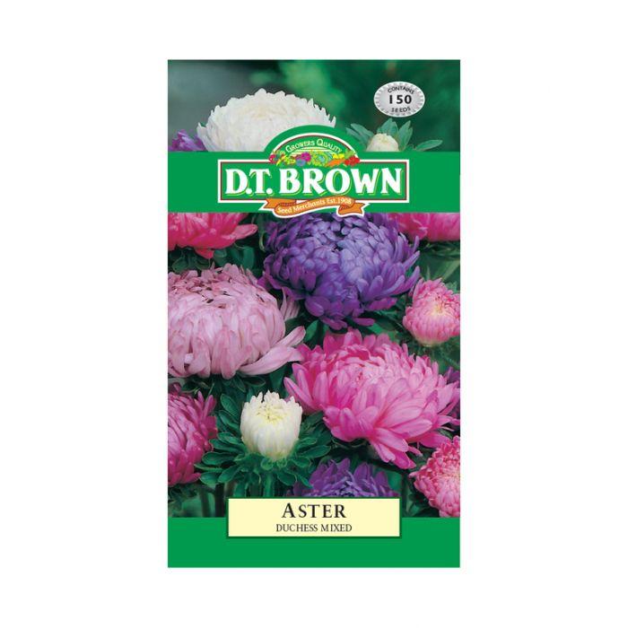 D T Brown - Flower Seeds - Aster Duchess Mixed  5030075000402