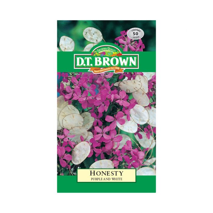 D T Brown - Flower Seeds - Honesty Purple and White  5030075020790