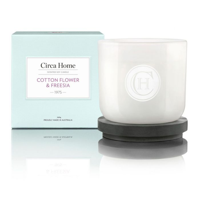 Circa Home 1975 Cotton Flower & Freesia Classic Candle 260g  9338817003534