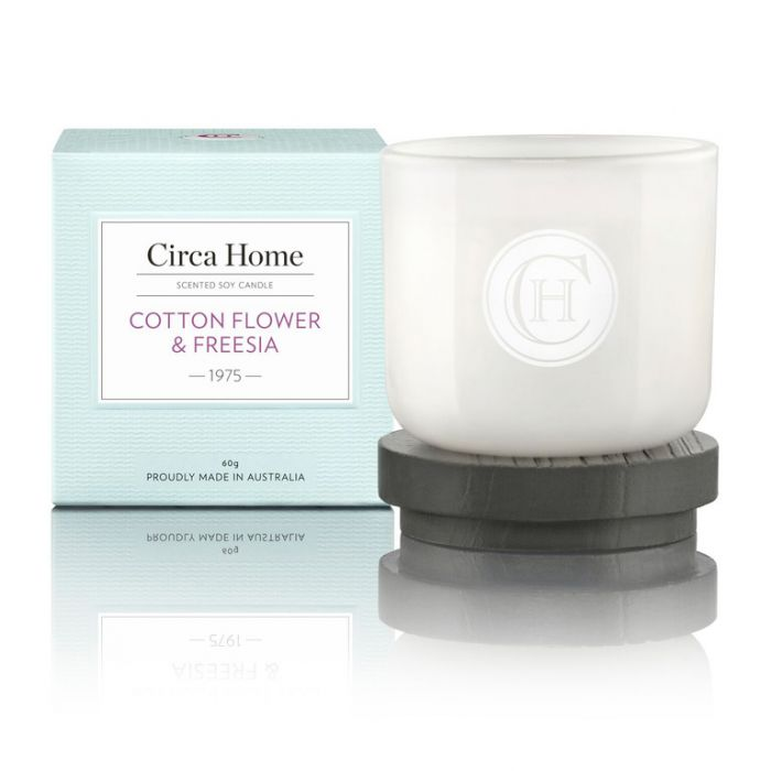 Circa Home  1975 Cotton Flower & Freesia Mini Candle 60g  9338817005323