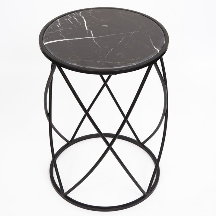 FP Collection Indoor Marble Side Table  168325