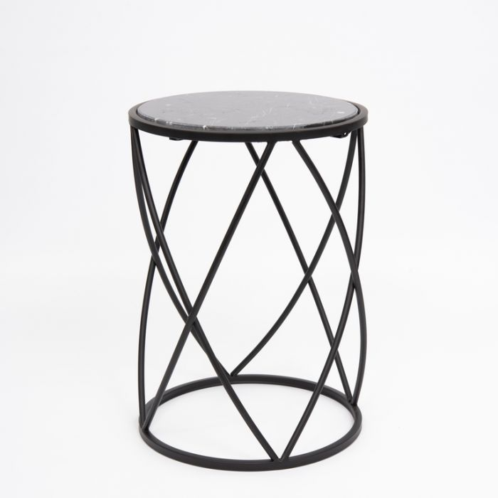 FP Collection Indoor Marble Side Table  168326