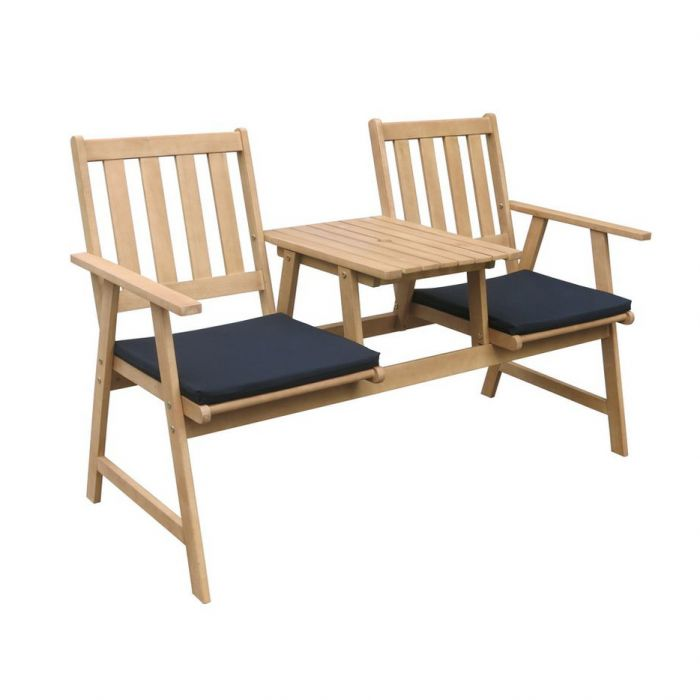 FP Collection Brooklyn Outdoor 2 Seater Jack & Jill Bench  169548