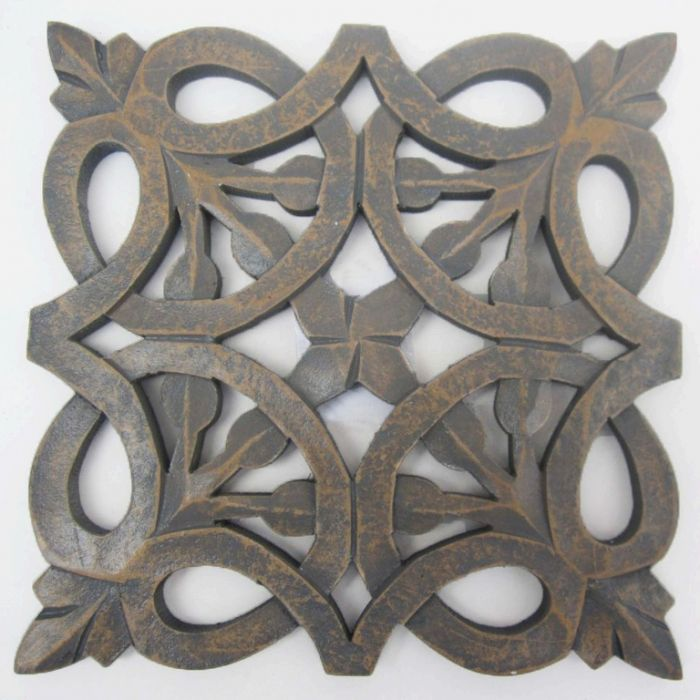 FP Collection Benson Ornate Hand Carved Timber Wall Art  172008