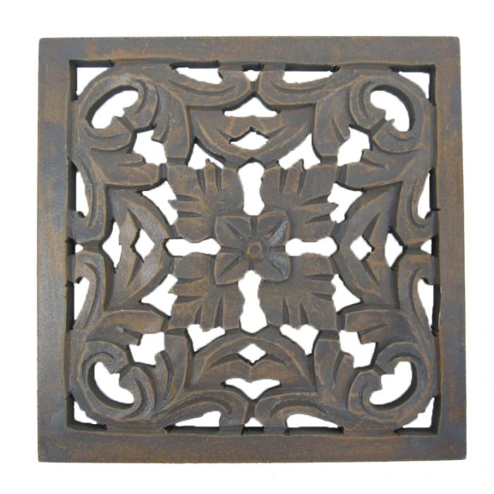 FP Collection Anderson Ornate Hand Carved Timber Wall Art  172009