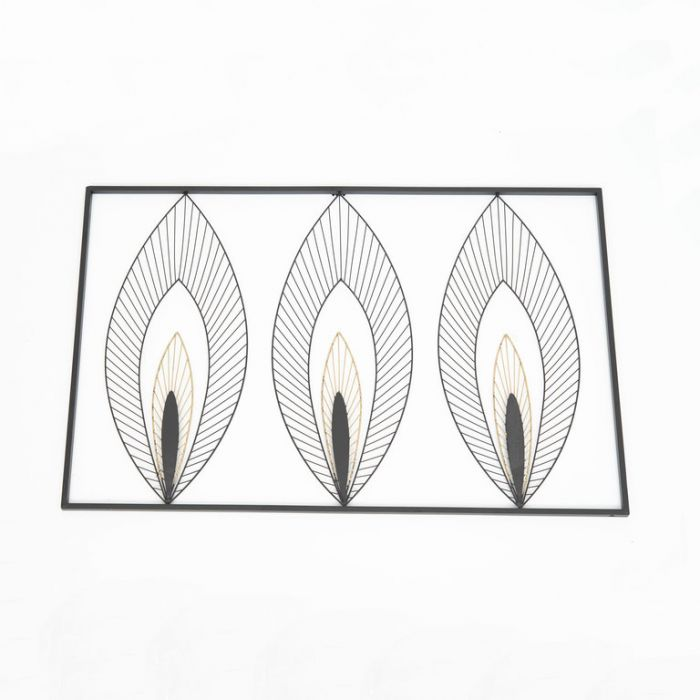 FP Collection Art Deco 3 Leaf Metal Wall Art  177427