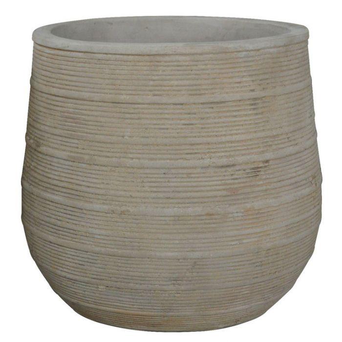 FP Collection Antique Tuscan Drum Pot  178335P