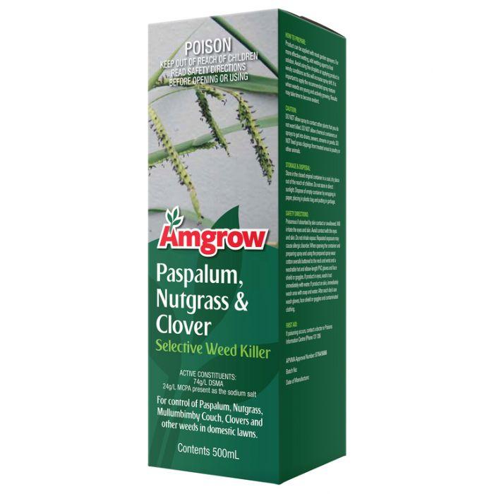 Amgrow Paspalum, Nutgrass & Clover Selective Weed Killer 500ml  9310943800423