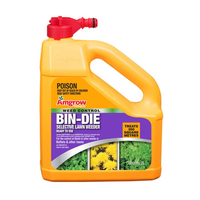 Amgrow Chemspray Bin Die Selective Lawn Weeder Hose-On 2 Litre  9310943801024